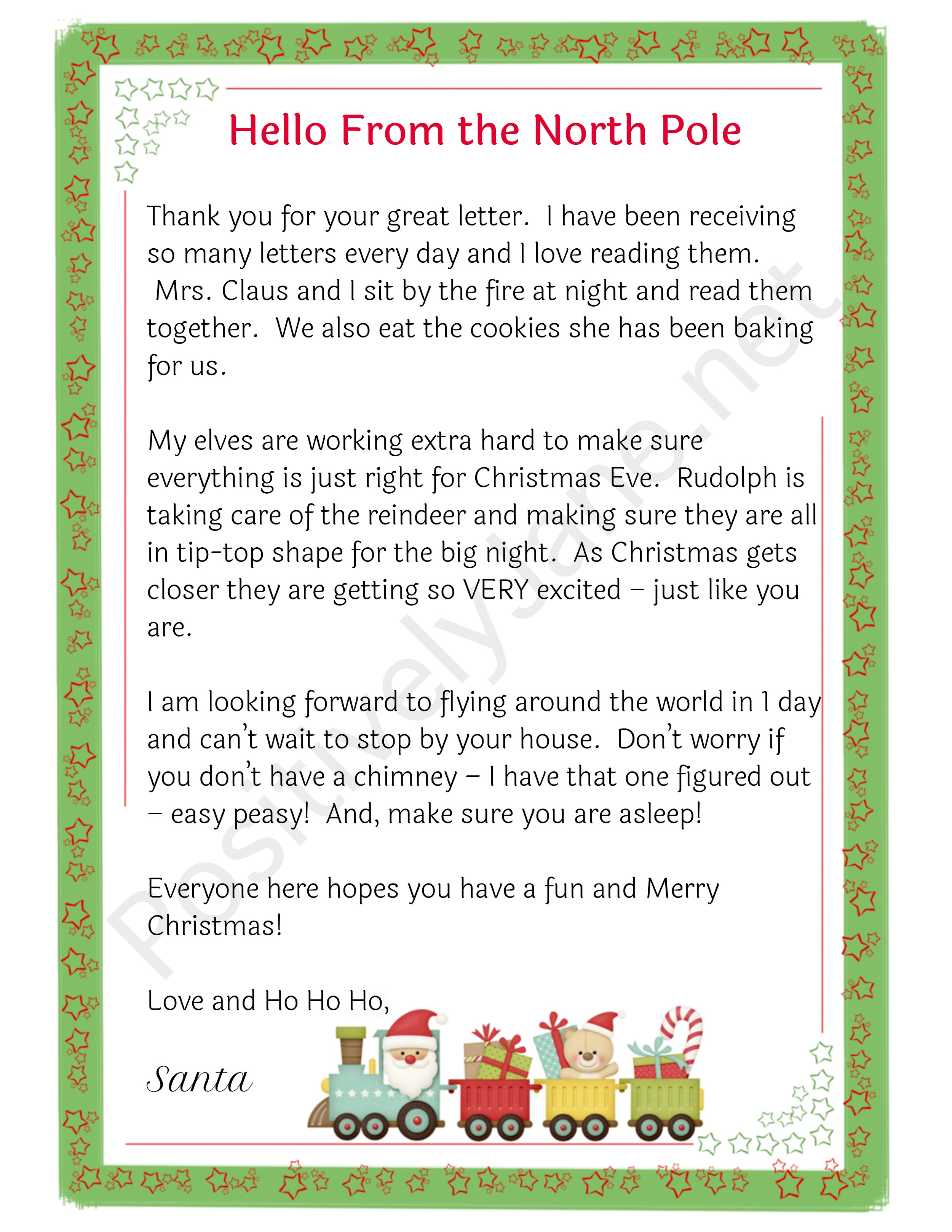 letters from santa|positively Jane