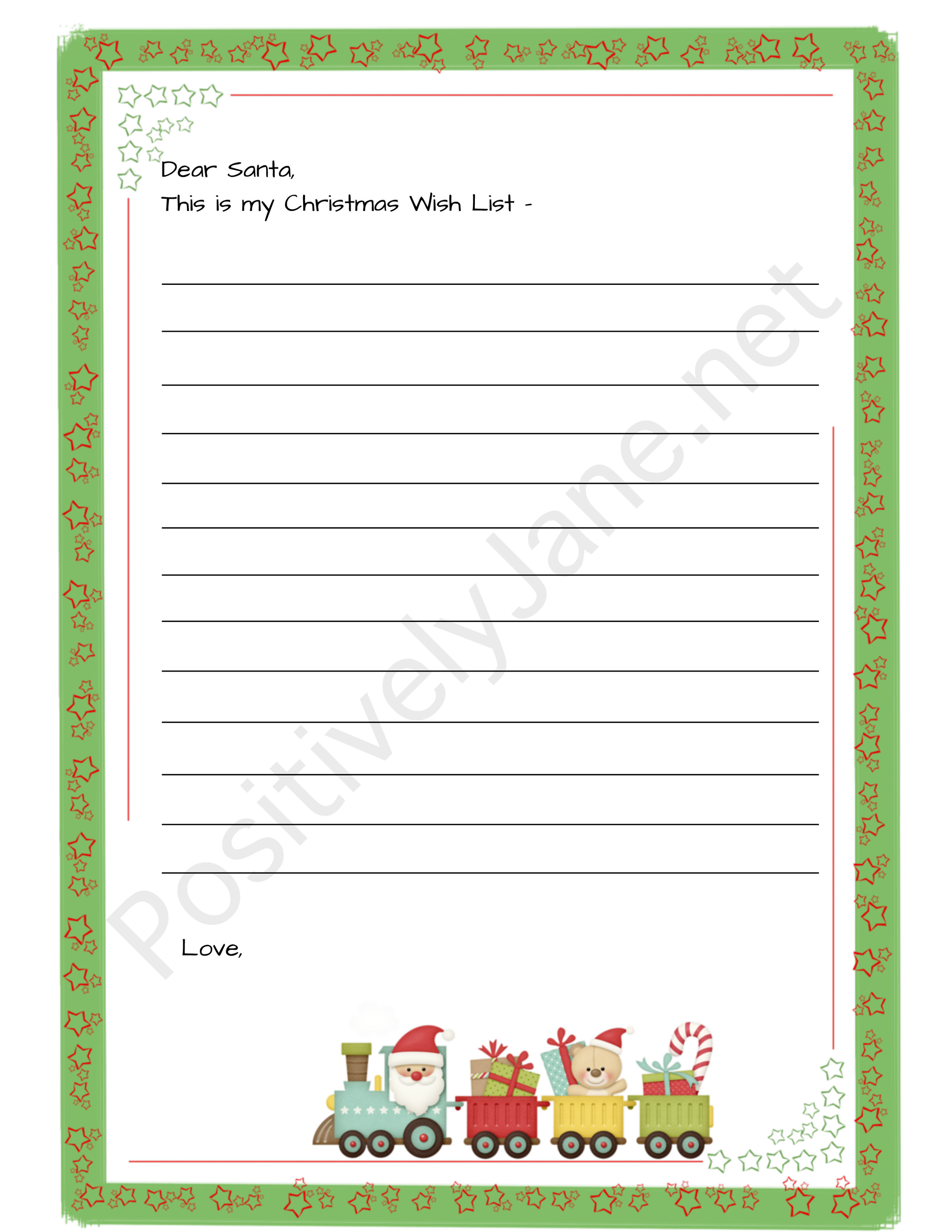 To Santa letters |positively Jane