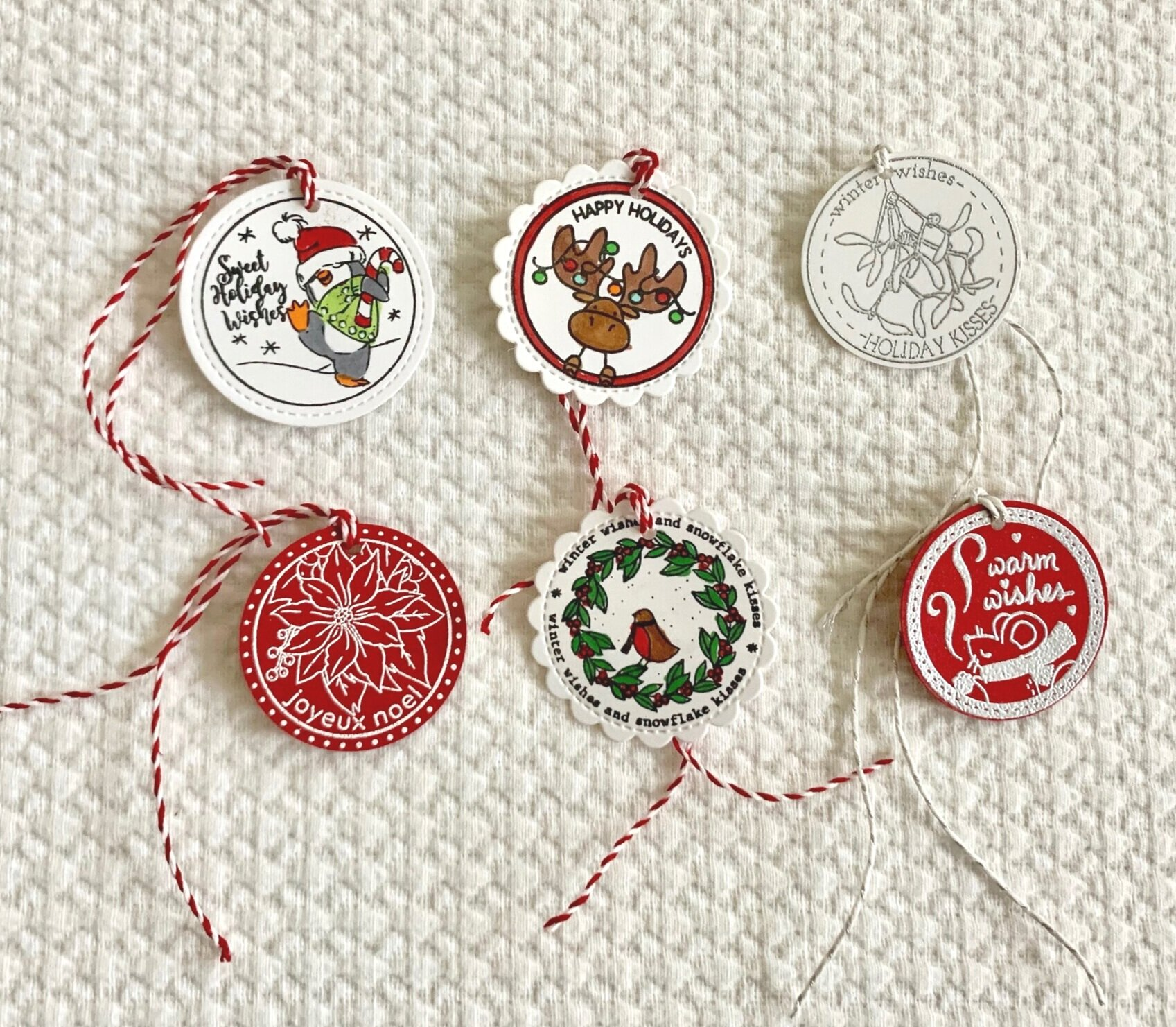Round christmas stickers and tags for your envelopes. christmas package tags, holiday stickers and tags