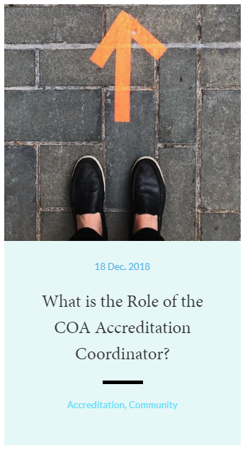 What is the Role of the COA Accreditation Coordinator?