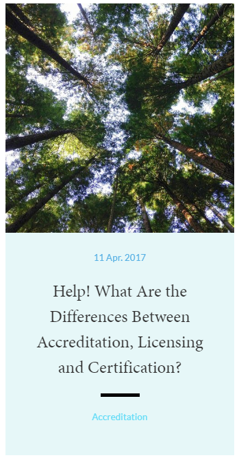 Help! What Are the Differences Between Accreditation, Liscensing, and Certification?