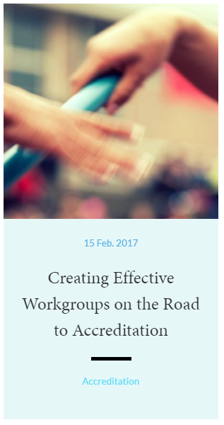 Creating Effective Workgroups on the Road to Accreditation