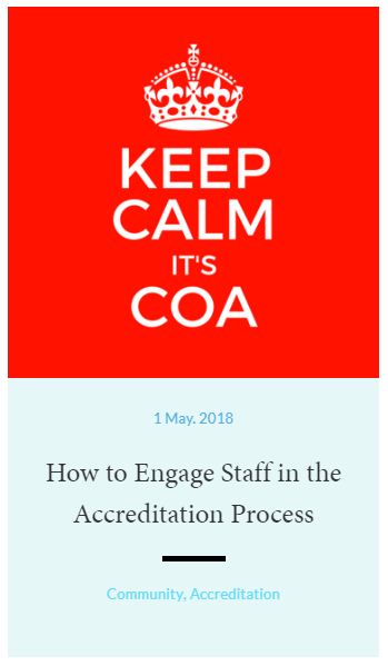 How to Engage Staff in the Accreditation Process