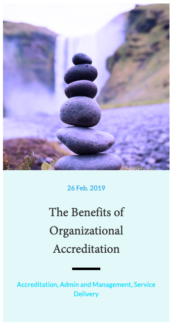 The Benefits of Organizational Accreditation