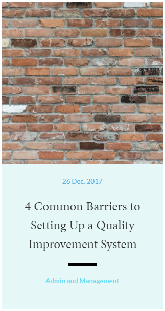 4 Common Barriers to Setting Up Quality Improvement Systems