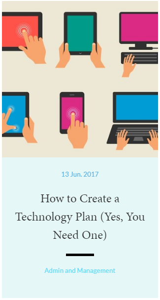 How to Create a Technology Plan