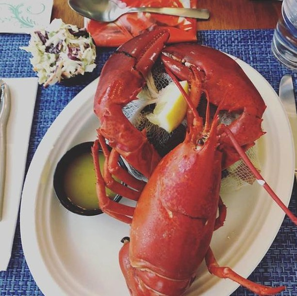 Happy Saturday! Let's eat lobster. Have you booked your bake yet? 🦞 . . #happysaturday #eatlobster #clambakes #steak #fish #appetizers #wedoitall #cateredclambake #clambakecatering #deliveredclambake #caterer #backsidebakes #haveyoubookedyourbake