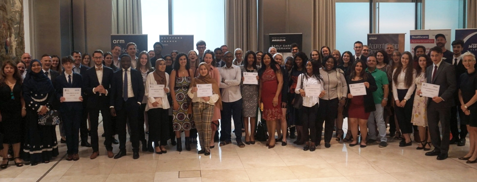 Gold Award Students - The Future Talent Awards, 2019