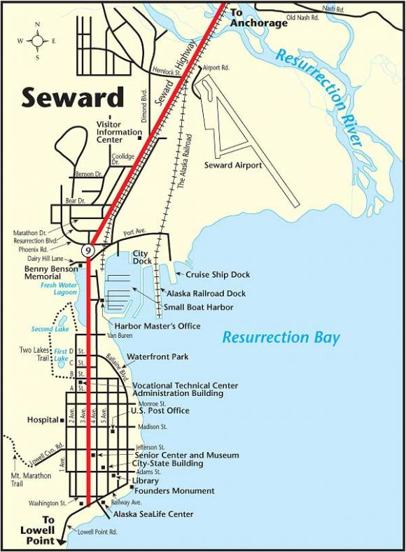 Seward Free Shutte Map