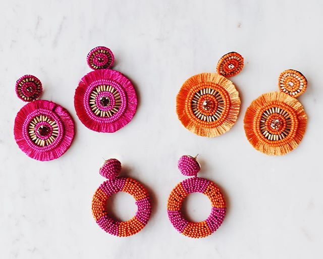 It's Fri-YAY !! How cute are these festive fluffy earrings?! 💞🧡💞🧡💞 #thebohochateau
