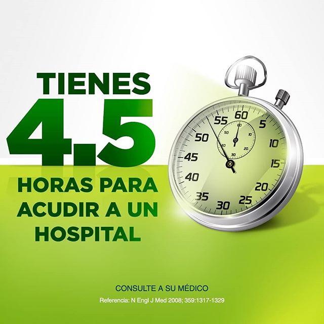 Inicia la carrera por vida ante un infarto cerebral.  Consulte a su médico  Referencia: N Engl J Med 2008; 359:1317-1329