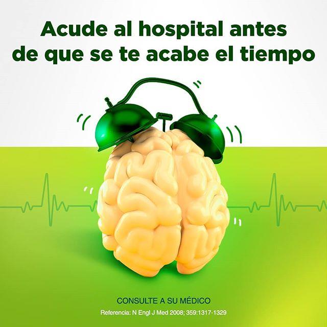 Ante un infarto cerebral el tiempo es cerebro, atiéndete dentro de las primeras cuatro horas y media.  Referencia: N Engl J Med 2008; 359:1317-1329  Consulte a su médico