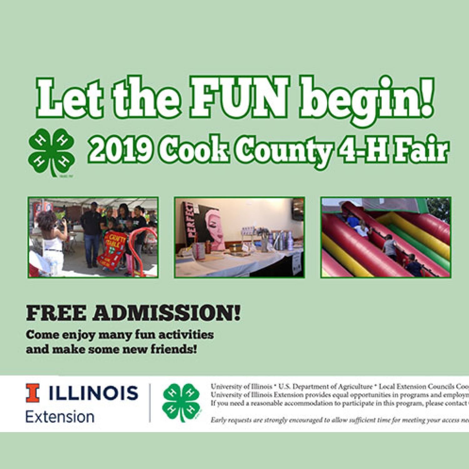 2019 Cook County 4-H Fair - Saturday, July 20, 2019 • 9:30 AM - 4 PM