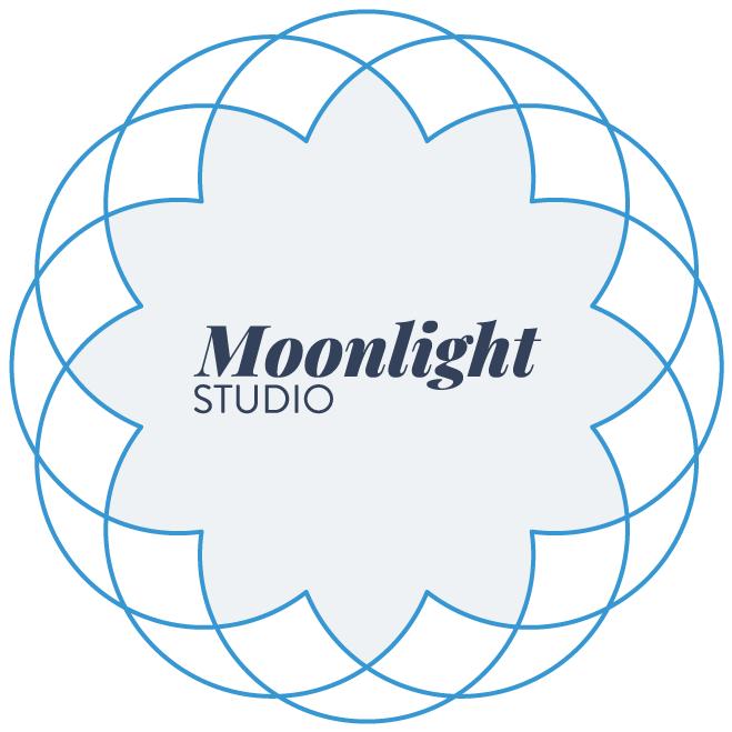 Moonlight-Studio logo Design Brand Identity
