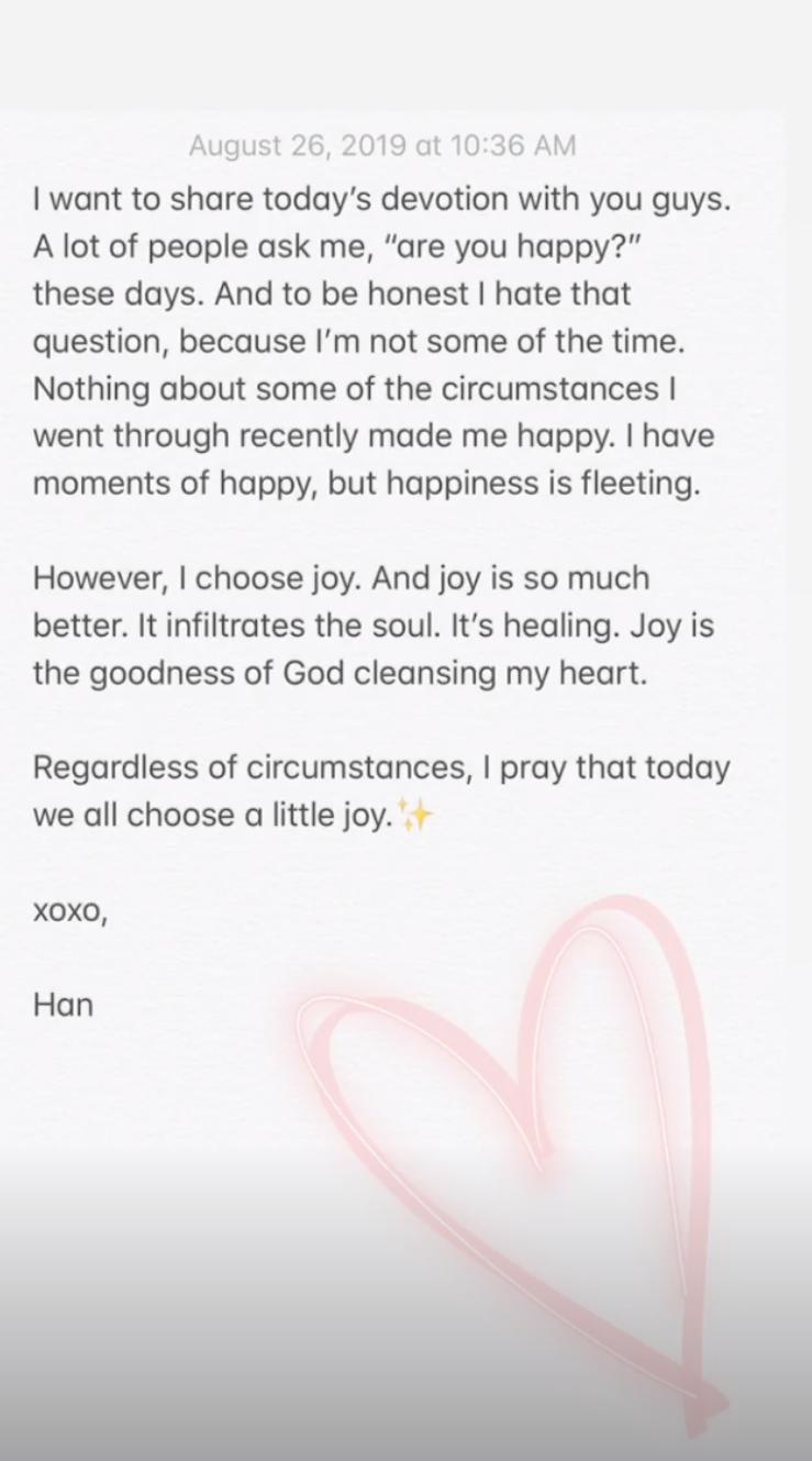 Hannah Brown / Instagram
