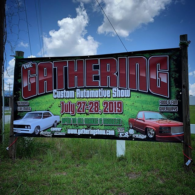 The Gathering Show is coming! Are you? @the_gathering_show @carbon_canvas_design @commontreadsmagazine #thegatheringshow #thegatheringshow2019 #carshows #truckshows #southcarolina #sc #cayce #cars #trucks #minitrucks #hotrods #ratrod #ratrods #bagged #custom