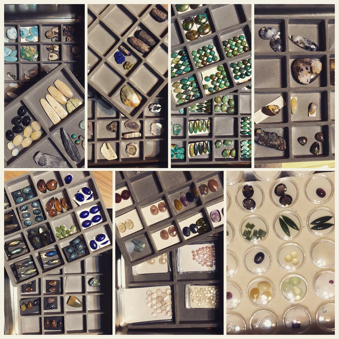 Fossils and turquoise, opals and lapis, sapphire and pearls . . . oh my!