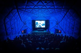 Museum of the Moving Image, felt wrapped acoustic panels