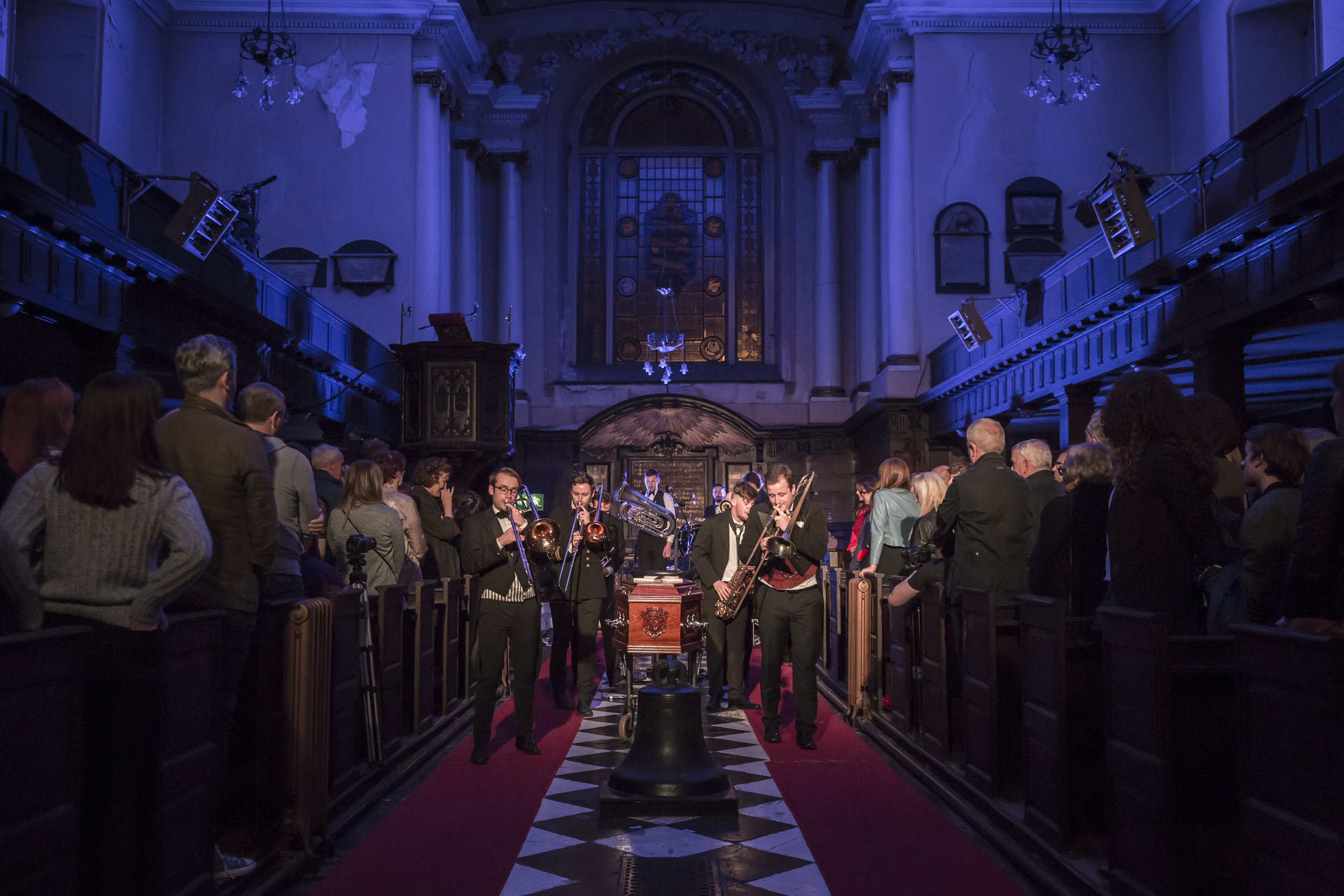 "total immersive spectacle - ""A total immersive spectacle with amazing music and performances, a perfect celebration to the end of truth.�Cian O'Brien, Artistic Director, Project Arts Centre"