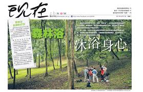 联合早报 Lian He Zao Bao, Dec 2017: 森林浴淋浴身心