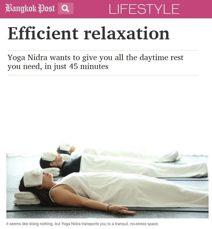 Bangkok Post, March 2019: Efficient relaxation, yoga nidra