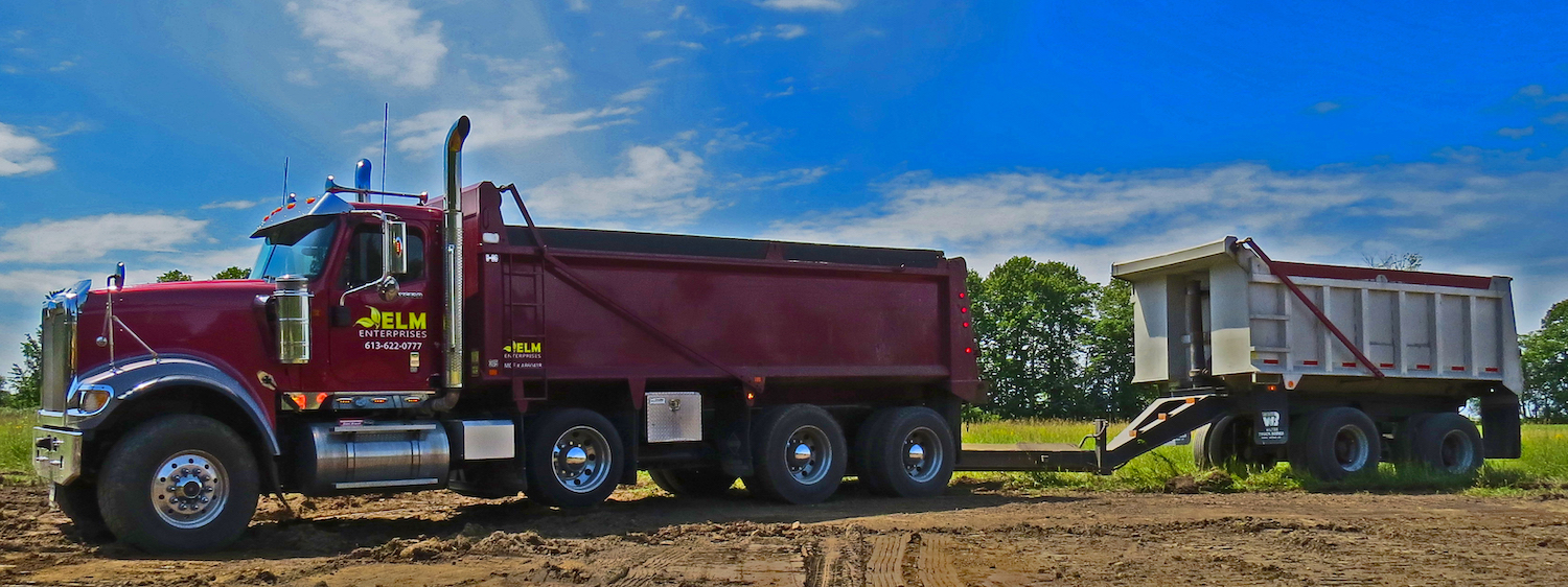 TRI-AXLE DUMP TRUCK AND PUP