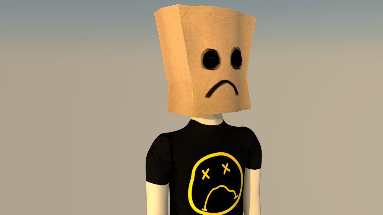 3D Sad Sack - by David Rodriguez