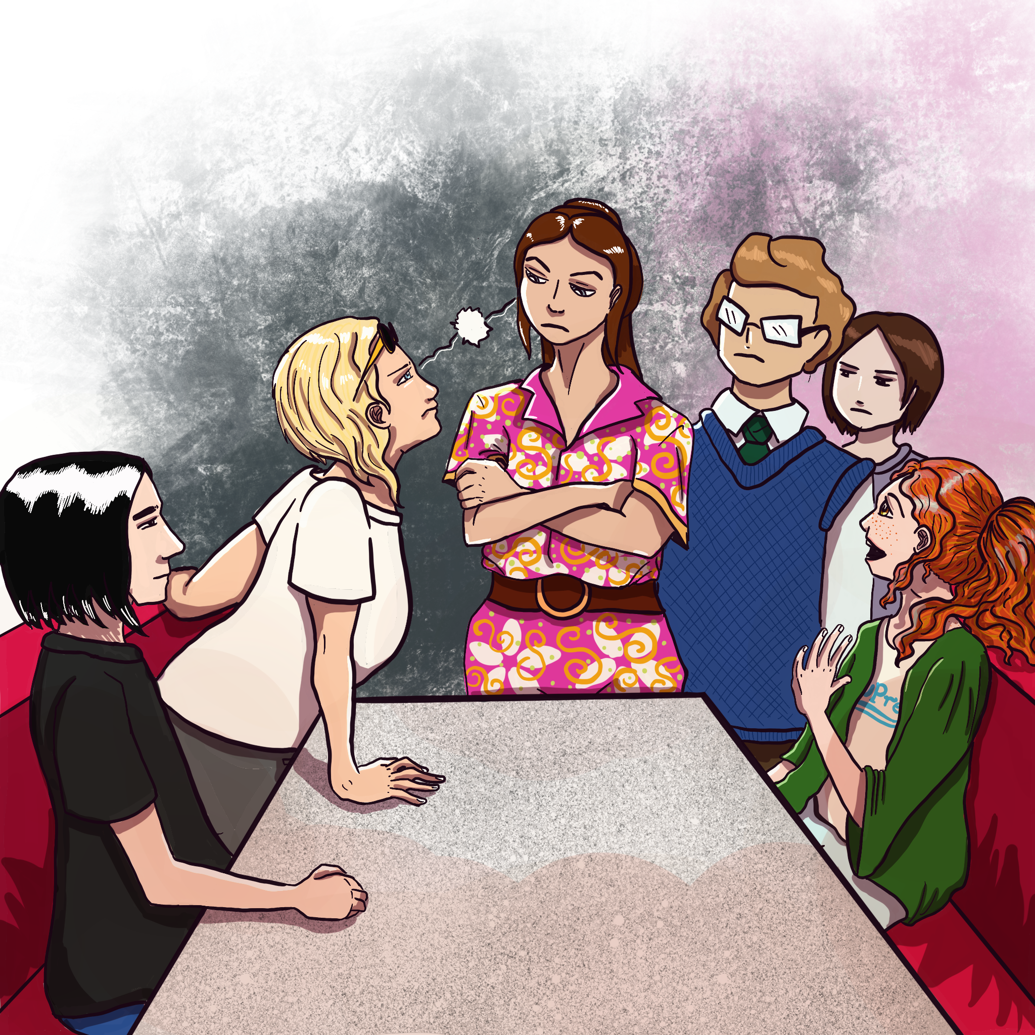 Pre-Prom Meeting with Peebs and the Gang - by Eve Golden-Woods