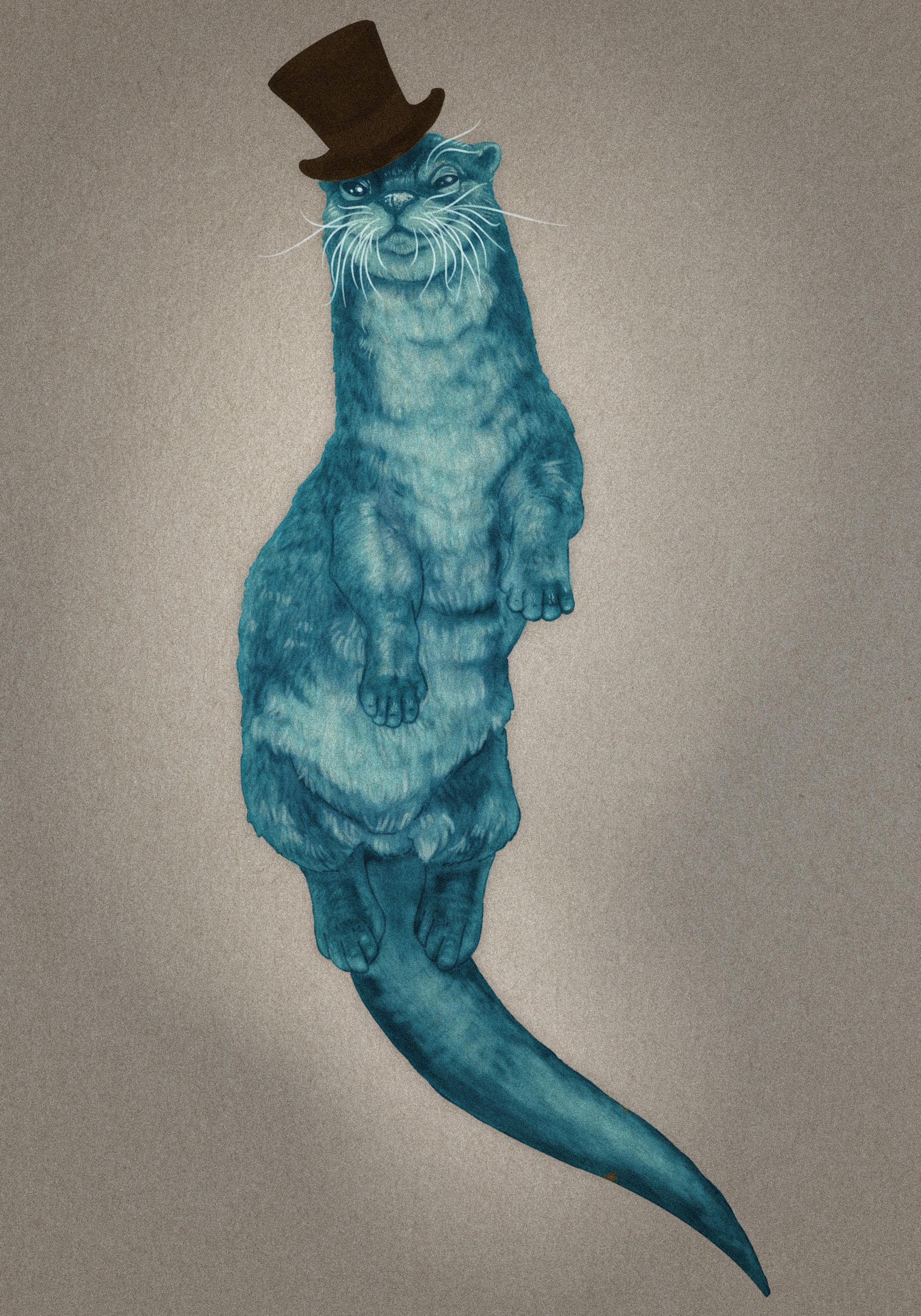Juabe the Spirit Otter - by Cloe