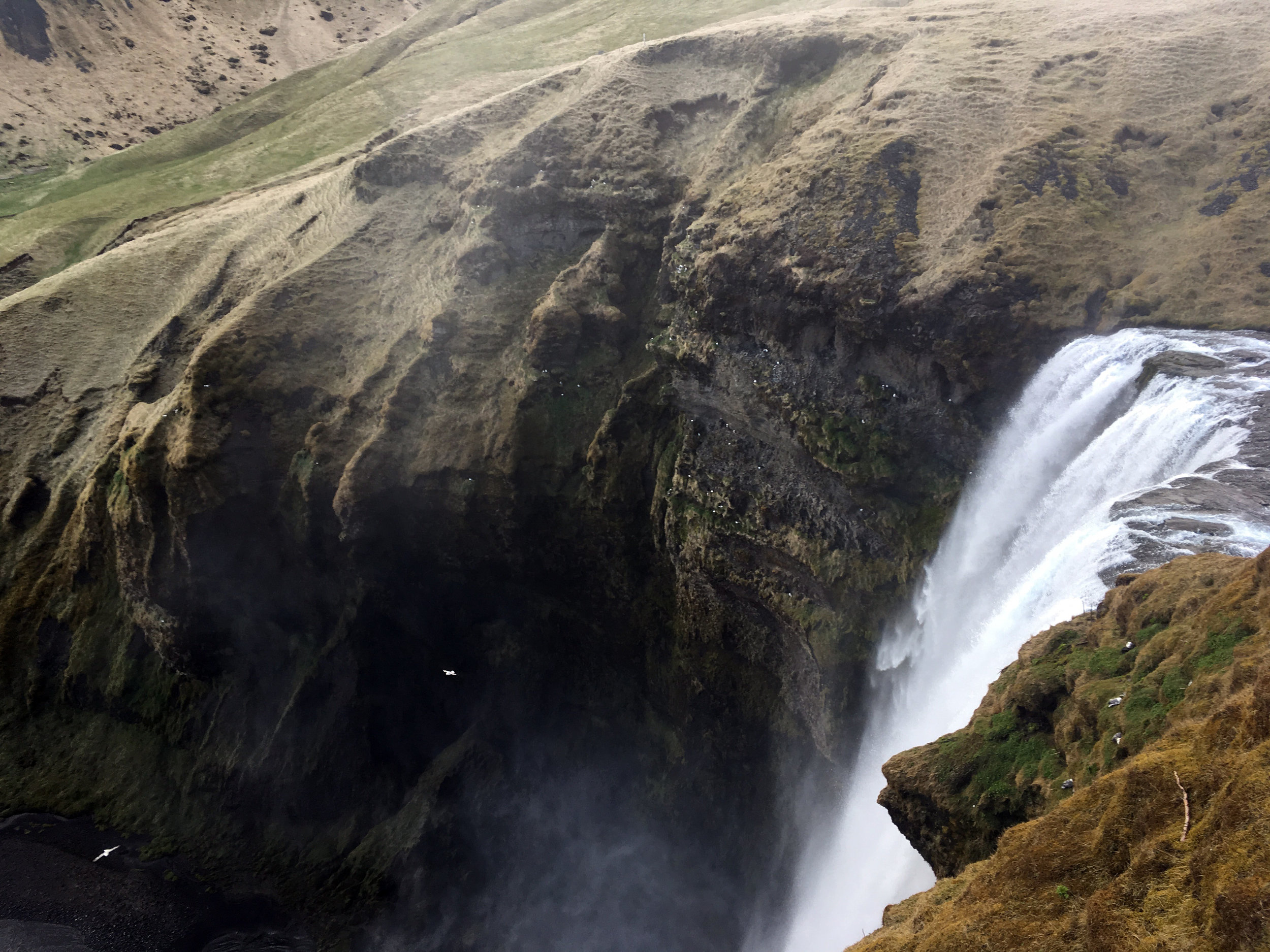 The top of Skógafoss