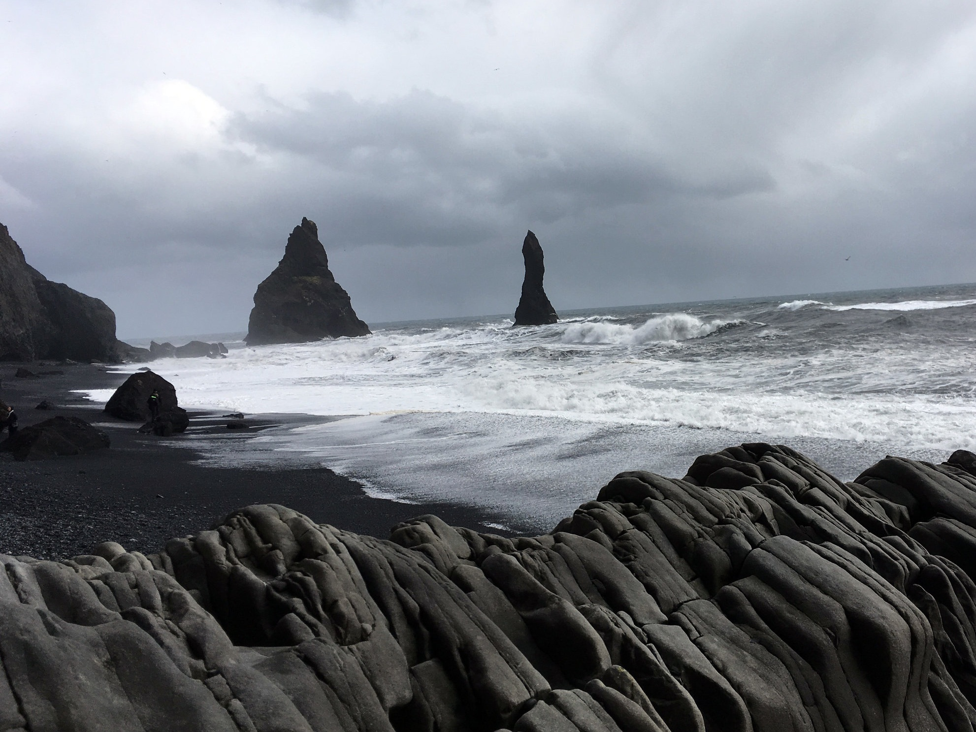 Reynisfjara, the black sand beach