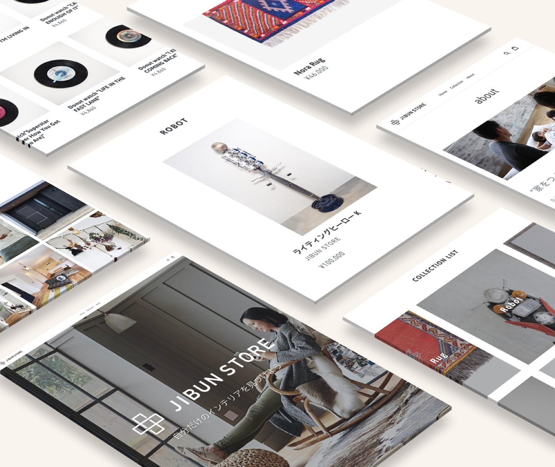 JIBUNSTORE - We produced an interior design store custom fitted to match our houses by connecting a EC-store with VR and Instagram shopping posts.「JIBUN STORE」は、ジブンハウスオリジナル規格商品やインテリア商品のVR/Web販売サービスとして、未知なるインテリアグッズとの新たな出会いの場を提供し、わくわくするような豊かな暮らしづくりをサポートします。