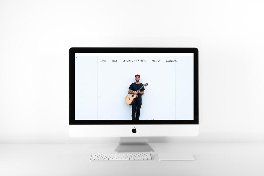 LEIGHTON FAIRLIE MUSIC | SQUARESPACE WEB DESIGN