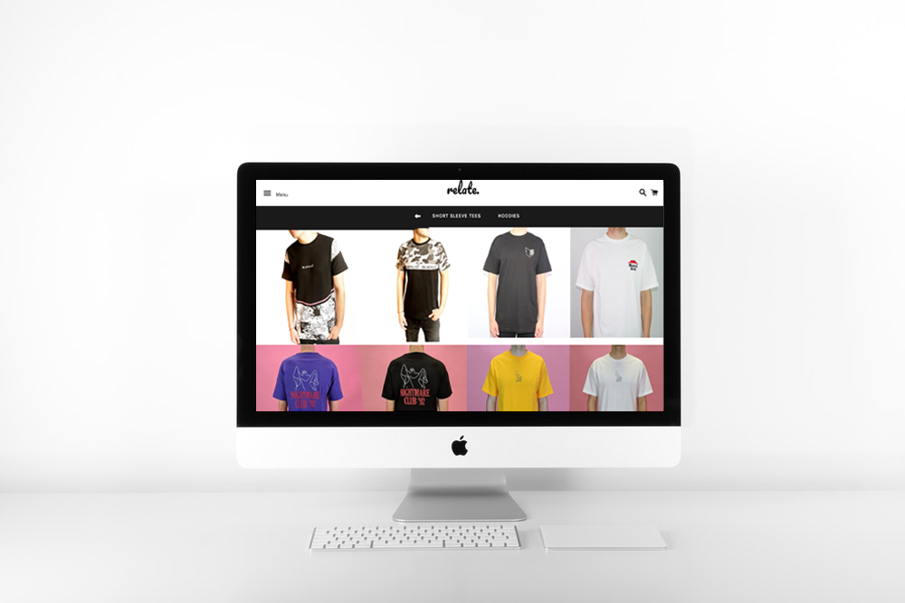 RELATE CLOTHING   SHOPIFY WEB DESIGN