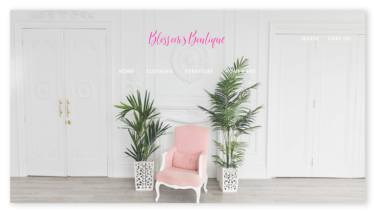 Blossoms Shopify website design