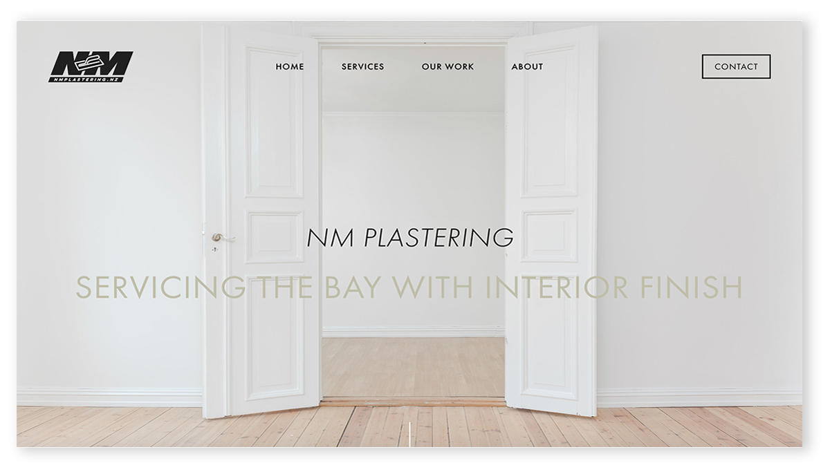 NM PLASTERING | SQUARESPACE WEBSITE DESIGN