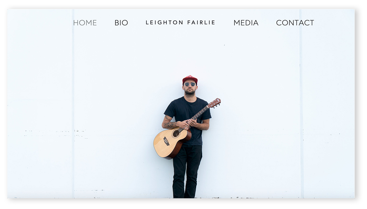 LEIGHTON FAIRLIE MUSIC | SQUARESPACE WEBSITE DESIGN