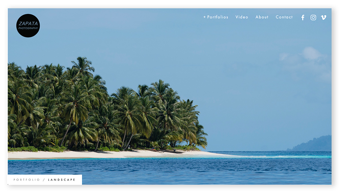 DOMINICO ZAPATA PHOTOGRAPHY | SQUARESPACE WEBSITE DESIGN