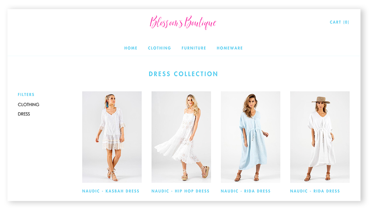 BLOSSOM'S BOUTIQUE | SHOPIFY WEBSITE DESIGN