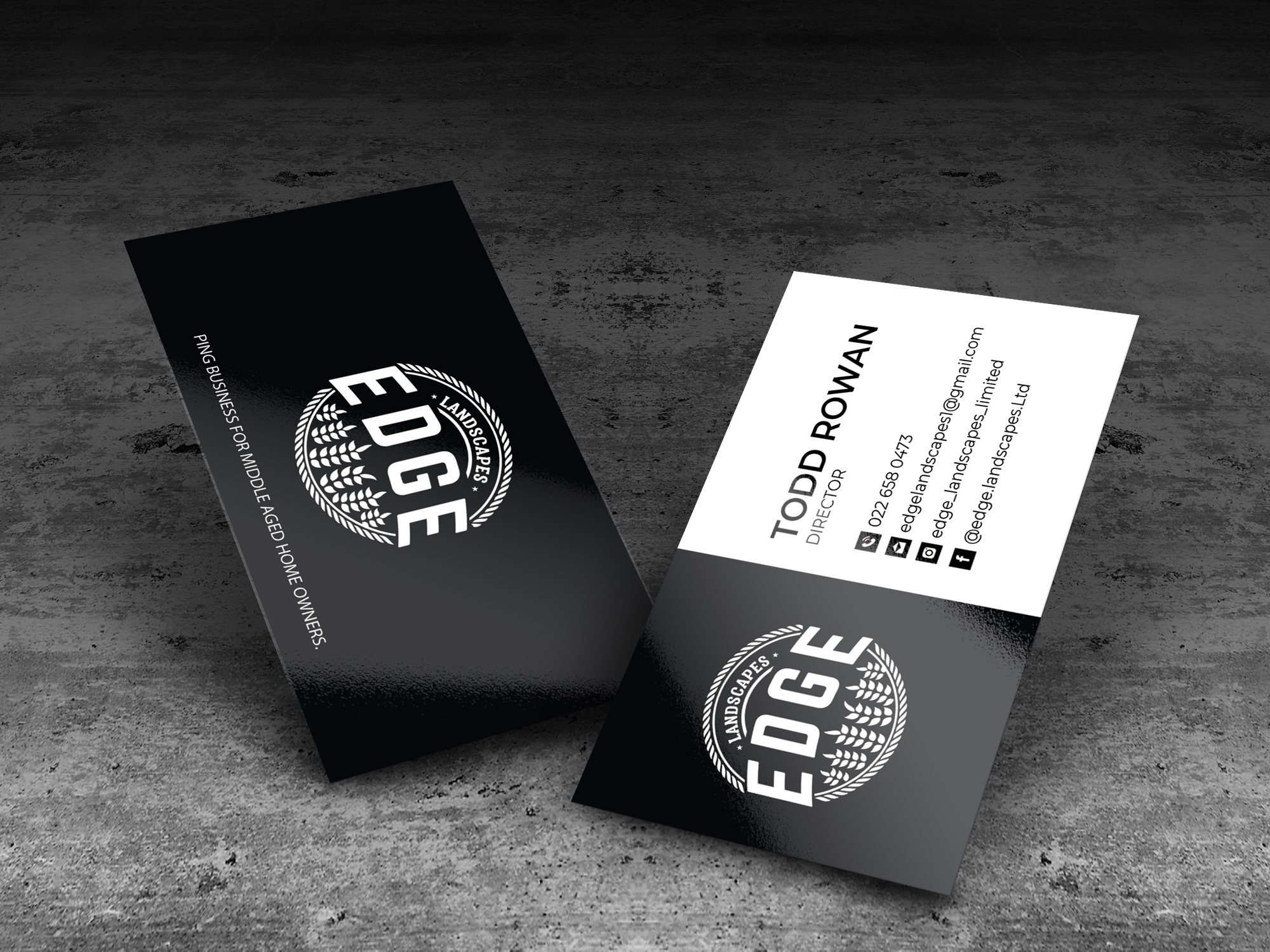 Edge business card design