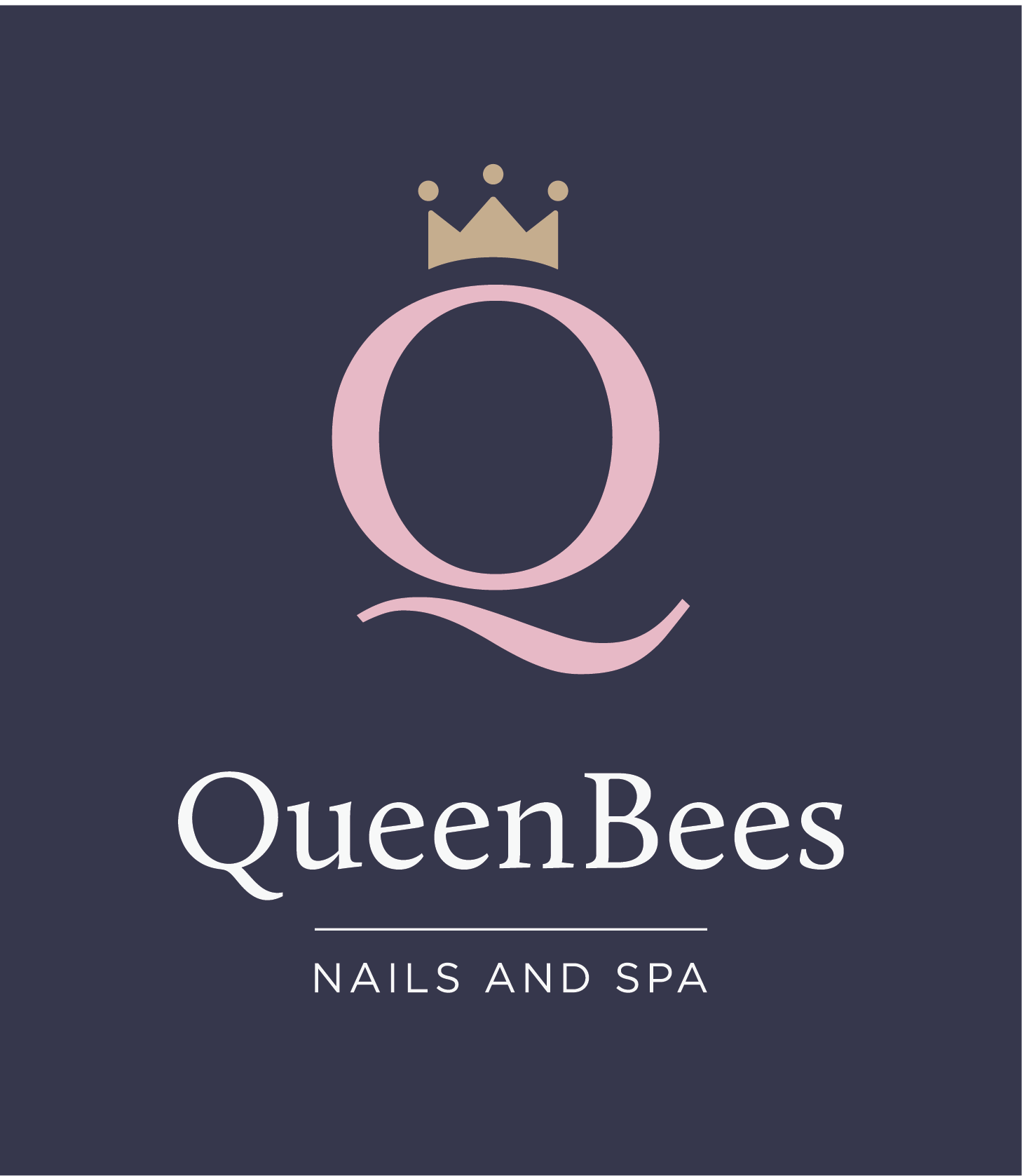 Logo Nails and Spa blue background