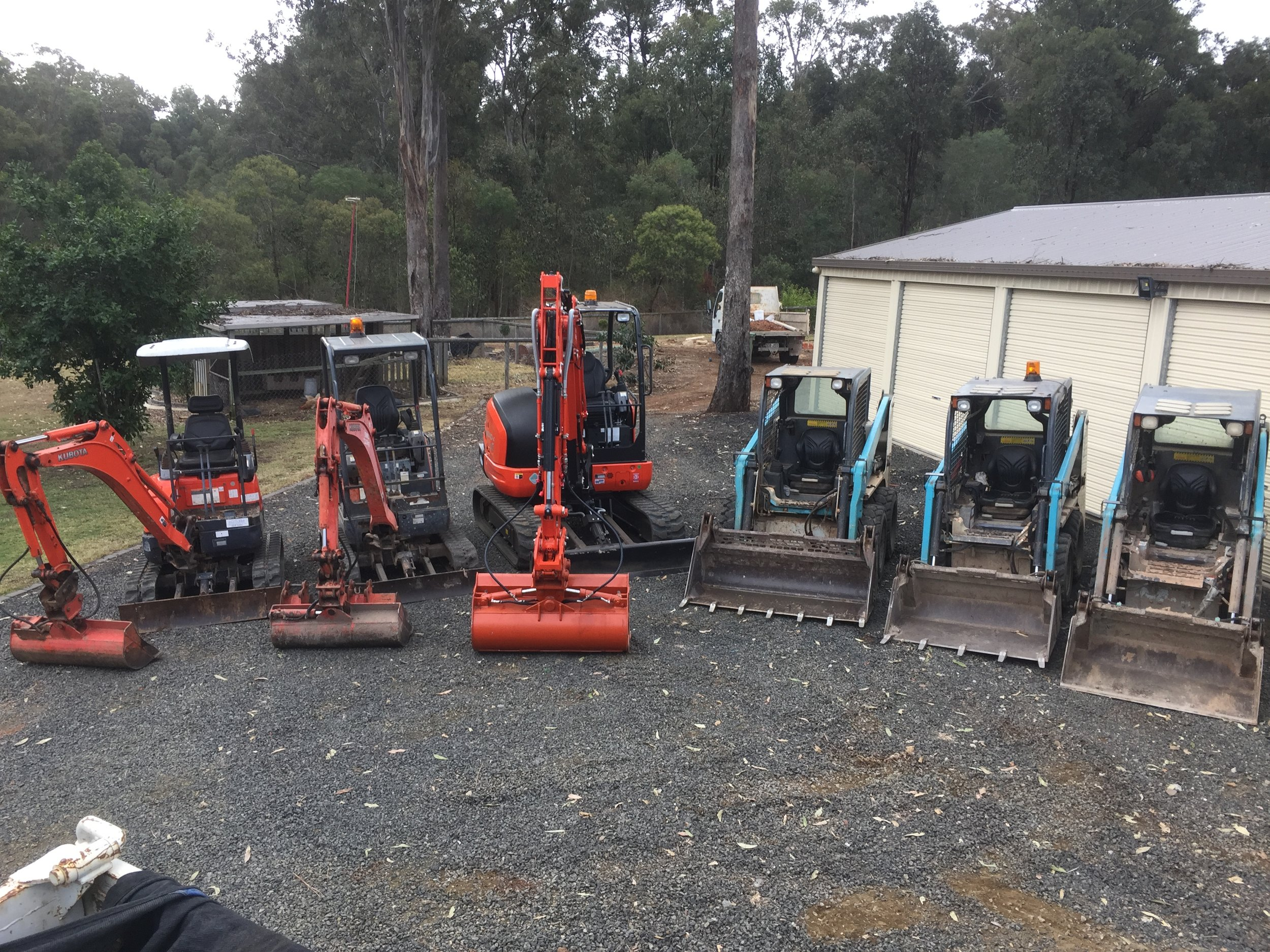 Our Fleet - We pride ourselves on our impressive, well maintained fleet. Fassifern owns and operates all of our own machines, which makes landscaping and earthmoving easy.