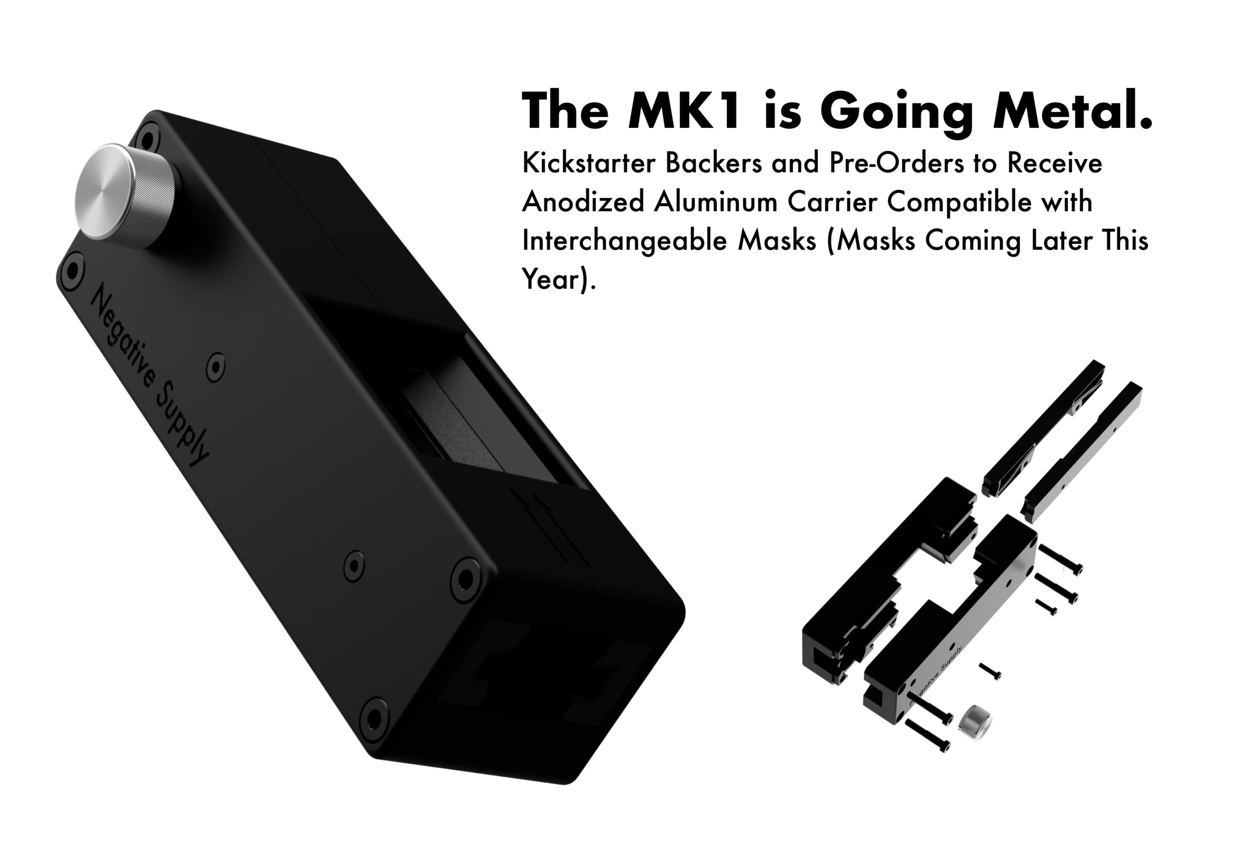 Promotion for Film Carrier MK1 in CNC machined aluminum.