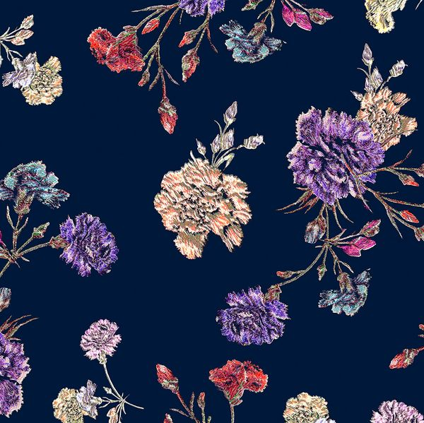 FLOWERS AT MIDNIGHT -