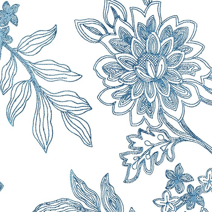 MAHARINI'S FLOWERS royal blue -