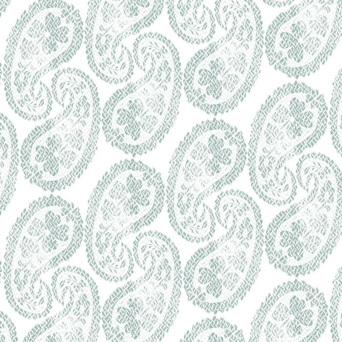 WORN PAISLEY small duck egg -