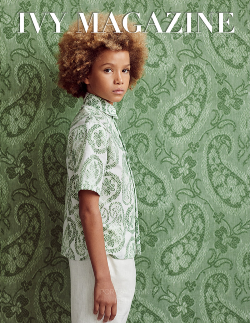 Ivy Magazine - Maharaja's Brocade wallpaper and Worn Paisley cotton -