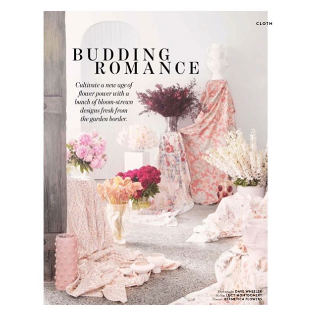 Excited to be included in the latest issue of @bellemagazineau 🤩Embroidered Garden in linen features in this dreamy romantic shoot by @lucy.m.montgomery and photographed by @dave_wheeler 🙌🏻Thanks very much! #interior #interiors #fabric #textiles #decor #deco #interiorstyling #interiorstyle #decorating #interiordecorating #photography #ingeholst