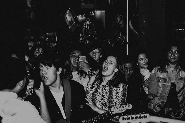 """LAST NIGHT WAS A DREAM. Thanks to all who came out and made it what it was!! We've got plenty more surprises coming soon, so keep an eye out. Catch us at San Ysidro Day today (flyer in our story bio). AND DON'T FORGET TO STREAM """"I DON'T MAKE ME"""" NOW THAT IT'S OUT 😘 (📷:@melisandemartin)"""