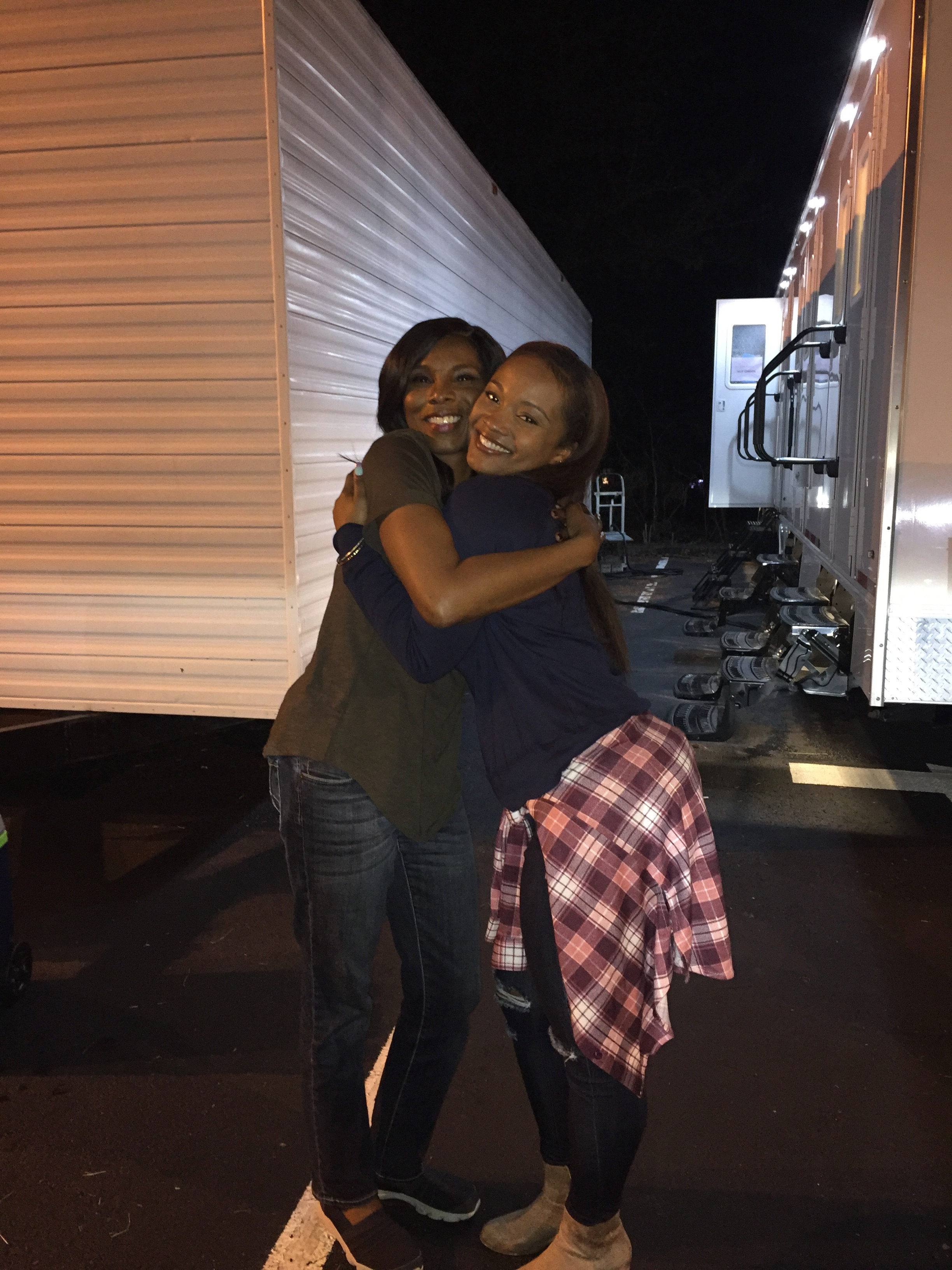 It's a wrap with my TV daughter Candace Harris as Taylor on set of  Bobbi Kristina